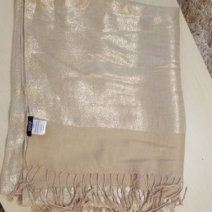 Gold wrap or scarf